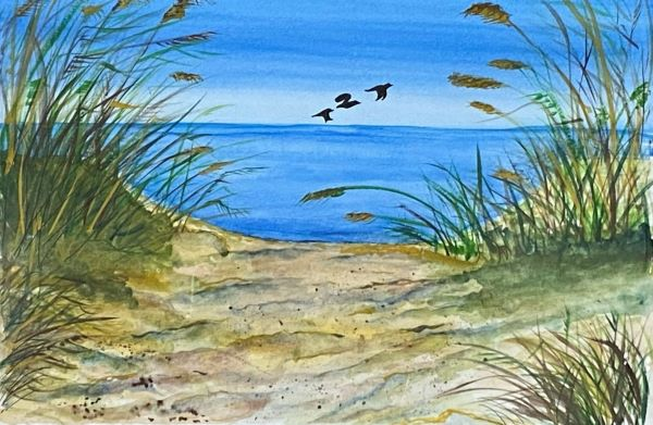 'First view of the sea' by Tania Le Marinel of Washington Village u3a