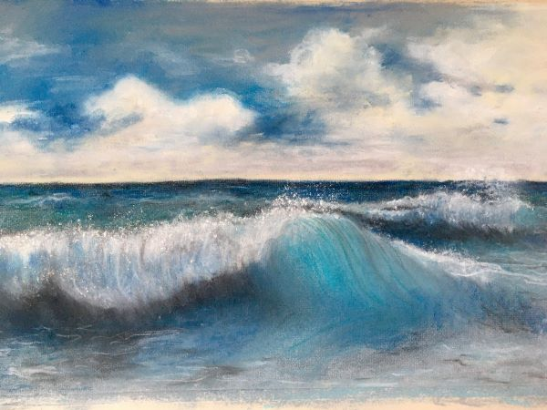 'Crashing Waves' by Marie Evans of Epsom and Ewell u3a