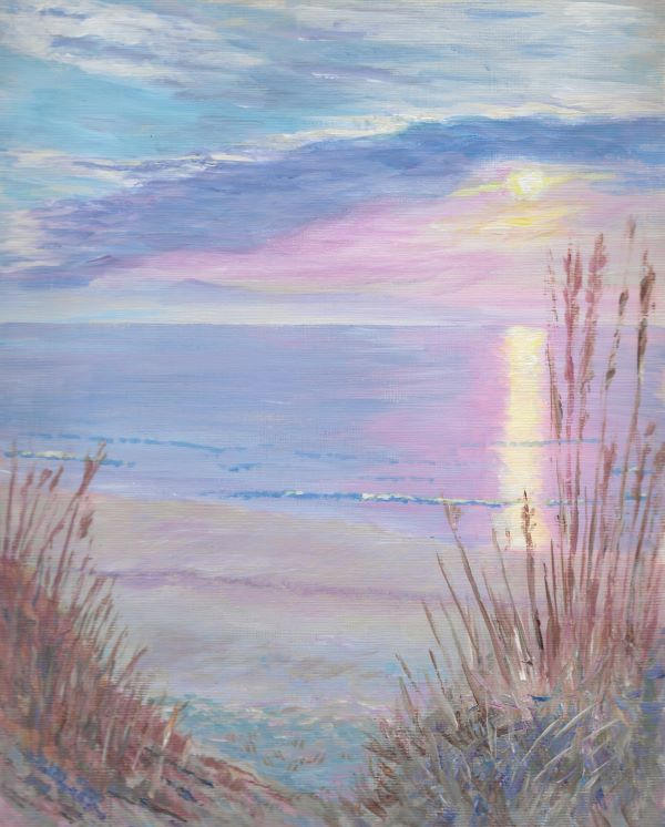 'Beach at Sunset' by Neil Collins of Hale and District u3a