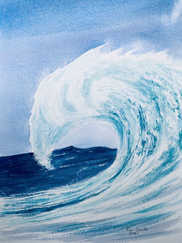 'Wave' by Ron Smith of Grimbsy and Cleethorpes u3a