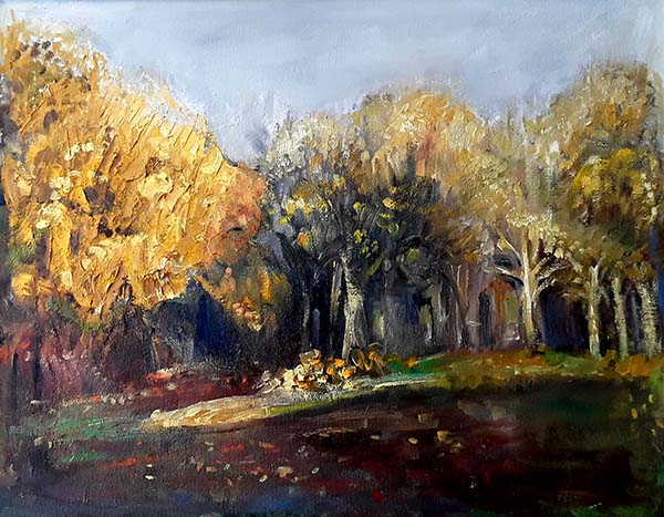 'Woodland scene' by Pam Wakefield of Marple & District u3a