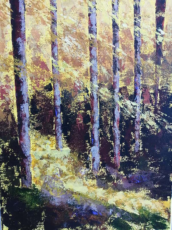 'Autumn Trees' by Sandra Foster of Belfast u3a