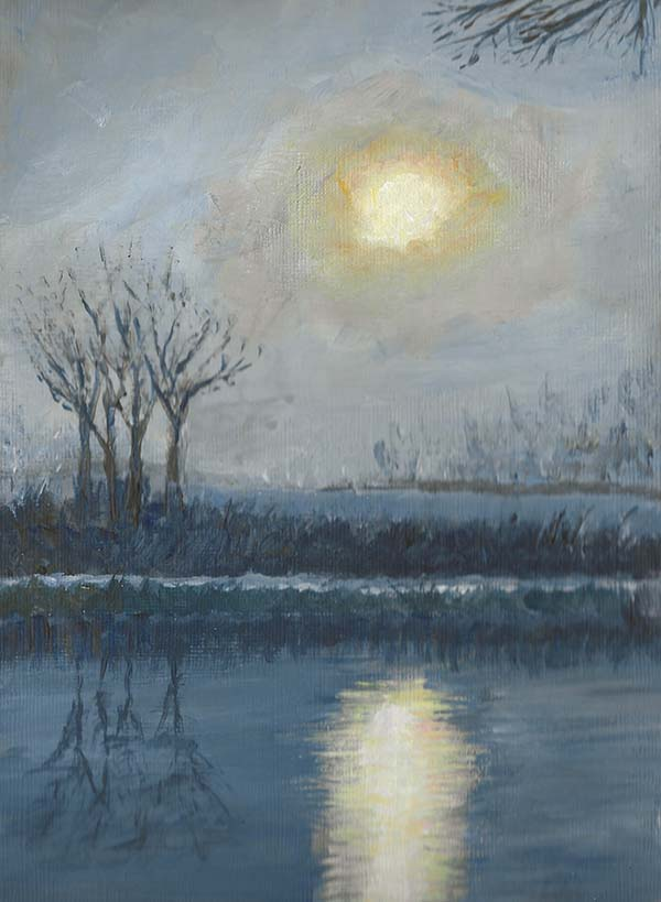 'Bridgewater Canal at Dusk' by Neil Collins of Hale & District u3a