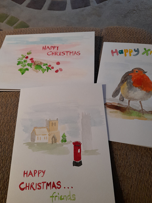 Cards by Linda Dickins of Lichfield U3A