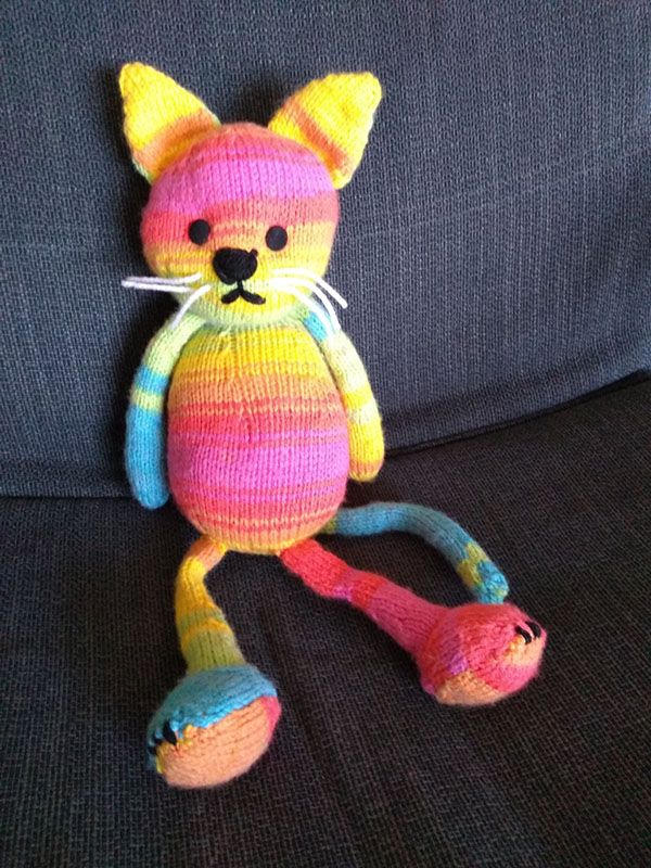 'Toy Cat' by Steph Collins of Seaham & District U3A