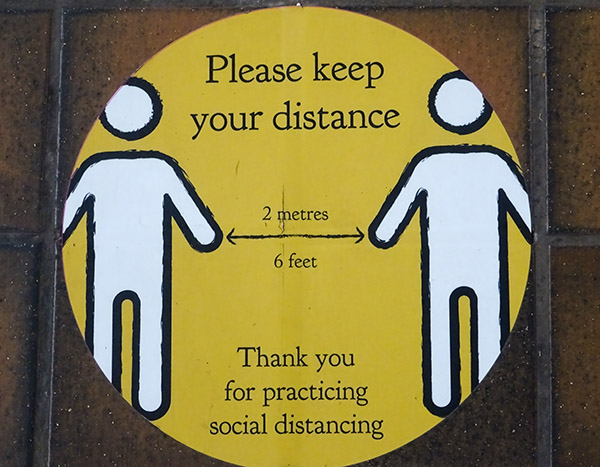 'Social distancing' by Christine Barrett of Christchurch U3A