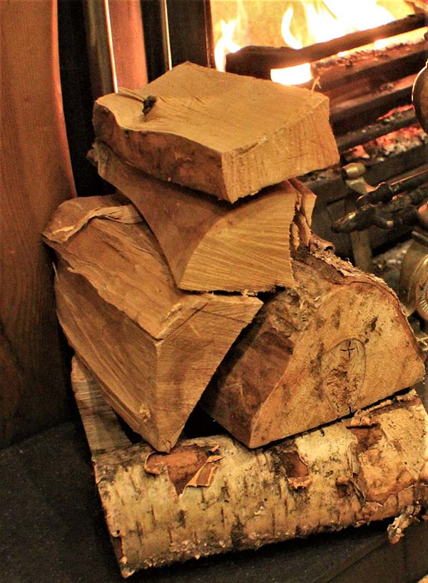 'Logs By The Fire' by Bill	Lockhart of Holywood District u3a